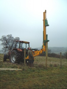 All hydraulic Rock Spike Drives down 1.20m (4ft).