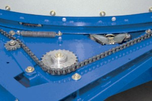 Reliable chain drive for tub.